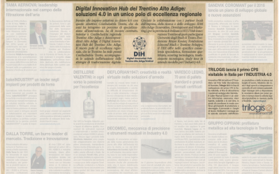 """Il Sole 24 Ore"", leading italian business newspaper, reports about TRACCIA 4.0"